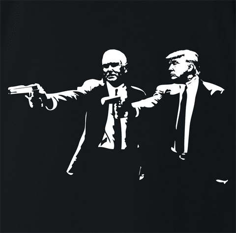Trump Pence Pulp Fiction T-Shirt By BigBadTees.com