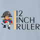 funny napoleon bonaparte 12 inch ruler- play on words light blue t-shirt