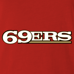 San Francisco 69ers men's red t-shirt
