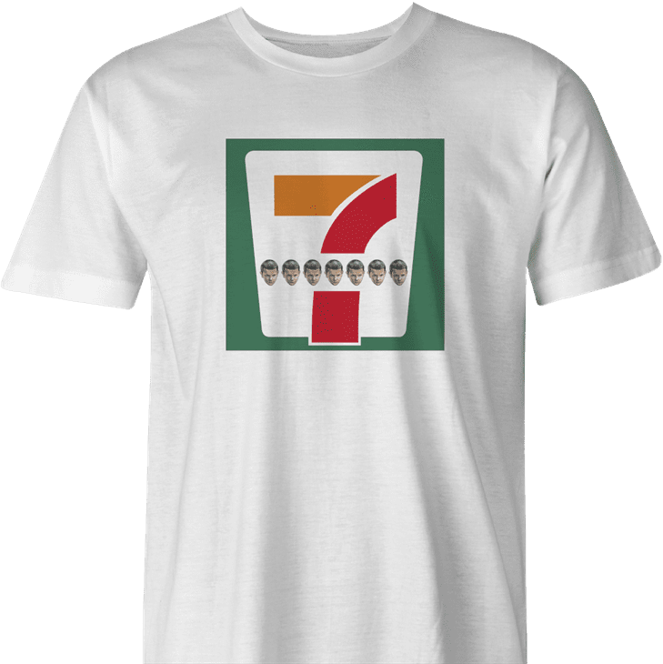 7-elevens stranger things men's white t-shirt