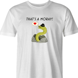 funny That's Amore Play On Word That's A Moray Eel white men's t-shirt