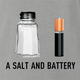 funny pun a salt and battery a salt and battery t-shirt ash