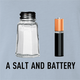 funny pun a salt and battery a salt and battery t-shirt light blue