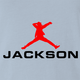 Michael Jackson Air Jordan funny t-shirt light blue