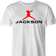Michael Jackson Air Jordan funny t-shirt men's white
