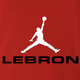 funny lebron james nike parody t-shirt red