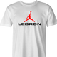 funny lebron james nike parody men's t-shirt white