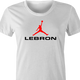 funny lebron james nike parody women's t-shirt white