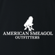 Funny american smeagol lord of the rings black t-shirt