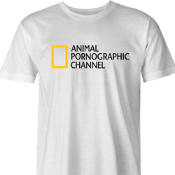 National Geographic Animal Pornogrphy Channel Parody t-shirt Green