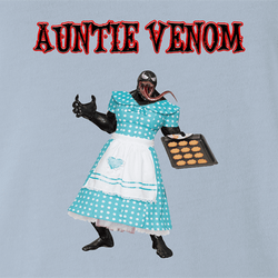 venom anti venom aunt may spiderman parody parody t-shirt white men's