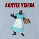 venom anti venom aunt may spiderman parody parody t-shirt white light blue
