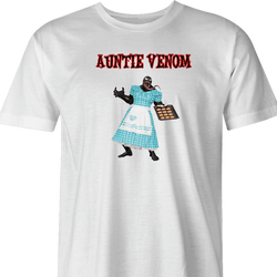 venom anti venom aunt may spiderman parody parody t-shirt white