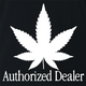 funny Weed Dealer - Authorized Dealer Parody black t-shirt