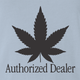 funny Weed Dealer - Authorized Dealer Parody light blue t-shirt