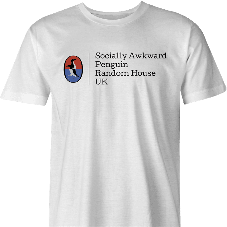socially awkward penguin meme random house Funny men's t-shirt