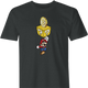 Funny BTC bitcoin super mario 3 black men's t-shirt