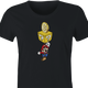 Funny BTC bitcoin super mario 3 black women's t-shirt