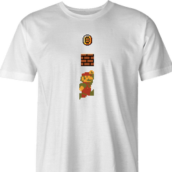 Funny BTC bitcoin super mario 1 men's t-shirt