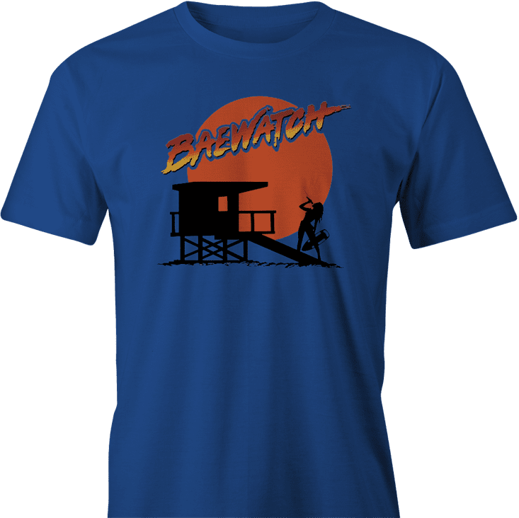 bey bae beyonce baywatch mashup royal blue men's t-shirt