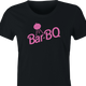 funny Barbie Doll BBQ Mashup women's black