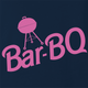 funny Barbie Doll BBQ Mashup Navy t-shirt