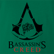 Funny Bass Fishing Gaming Mashup Green T-Shirt