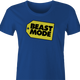beast mode women's royal blue t-shirt