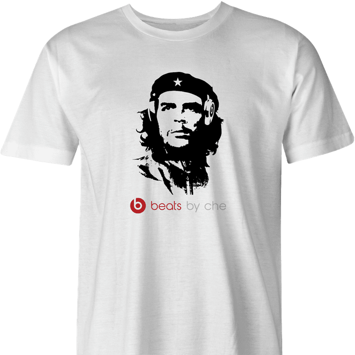 funny beats by che guevara parody men's white t-shirt