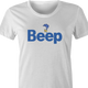 Funny Beep Road Runner Parody white women's t-shirt