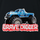 Bigfoot and Gravdigger Monster Truck Racing Parody t-shirt black