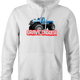 Bigfoot and Gravdigger Monster Truck Racing Parody hoodie white