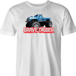 Bigfoot and Gravdigger Monster Truck Racing Parody t-shirt lime green