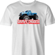 Bigfoot and Gravdigger Monster Truck Racing Parody t-shirt white men's