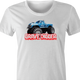 Bigfoot and Gravdigger Monster Truck Racing Parody t-shirt white women's
