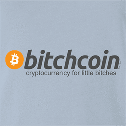 BTC bitcoin bitchcoin white men's t-shirt