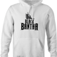 Funny Star Wars Bantha Black Panther mashup white hoodie