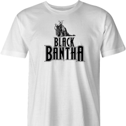 Funny Star Wars Bantha Black Panther mashup white men's t-shirt