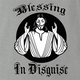 funny religion blessing in disguise ash grey t-shirt