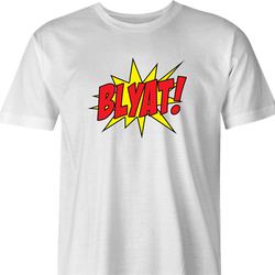 funny Blyat - Russian Pow! Comic Book Meme Parody white men's t-shirt