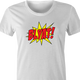 funny Blyat - Russian Pow! Comic Book Meme Parody white women's t-shirt