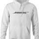 funny Boobs Bose parody mashup white hoodie