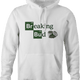 Funny weed t-shirt - Breaking Bad Parody hoodie white