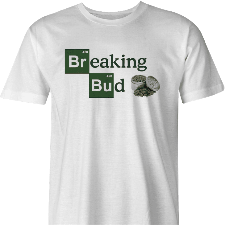 Funny weed te - Breaking Bad Parody men's t-shirt white