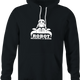 funny Robot Reading A Book Bull Logo Parody black hoodie