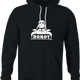funny Robot having Sex With a Crab Bull Logo Parody black hoodie