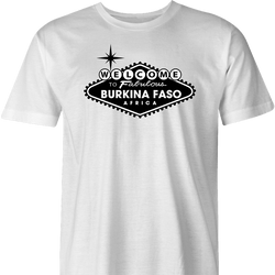 Funny beautiful Burkina Faso travel men's white t-shirt