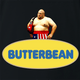 funny Butterbean Heavy Weight Boxer Butterball Mashup black t-shirt