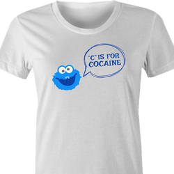 Cocaine Monster Parody - C is For Cocaine t-shirt white