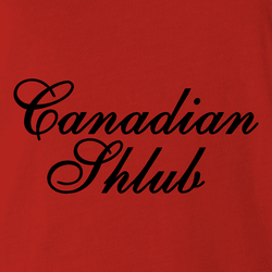 canadian shlub club white tee
